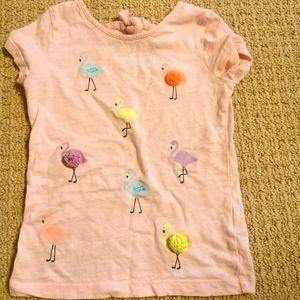 3 for $20 | Pink Flamingo Pom pom top